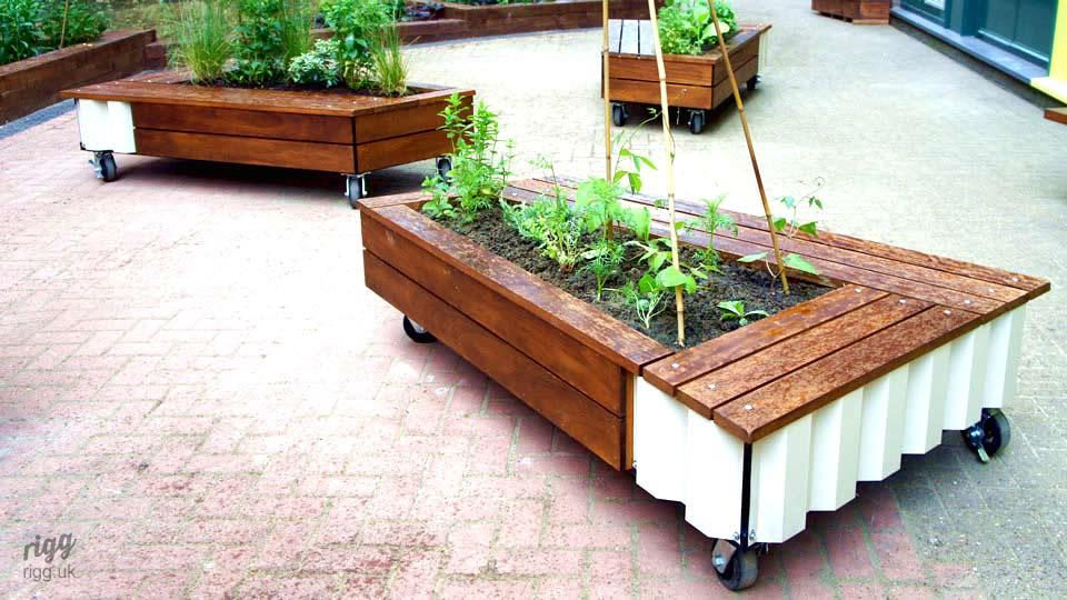Wood & Metal Custom Outdoor Planters