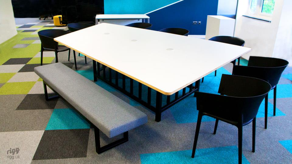 Bespoke Special Shape Quadrilateral Meeting Table in Office Fit-out