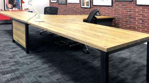 Bespoke T Shaped Desk at Creative Digital Design & Marketing Agency