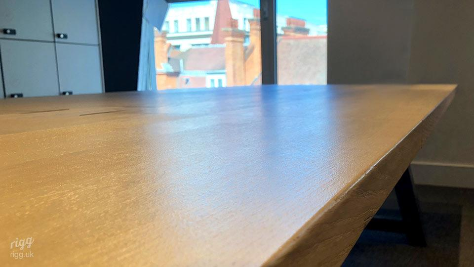 Thick, Solid Oak Table Top on Long Conference Table