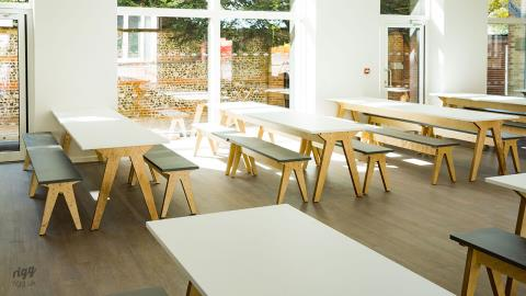 Independent Prep School Dining Tables & Benches - Prince's Mead, Winchester