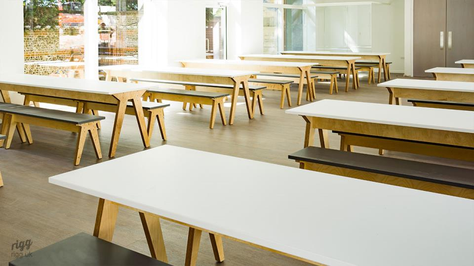 New Dining Hall Furniture & Interior at Prince's Mead School