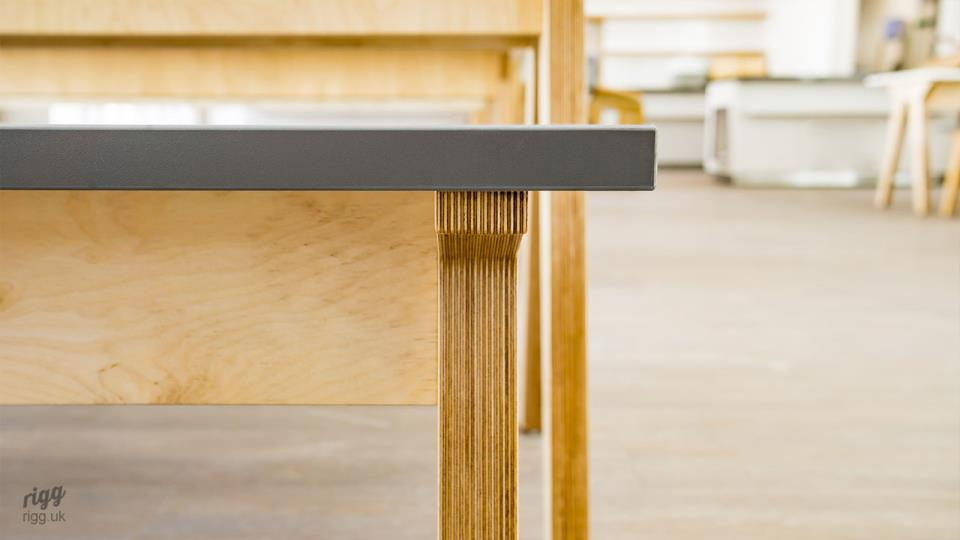 School Seating with Plywood Edge Detail