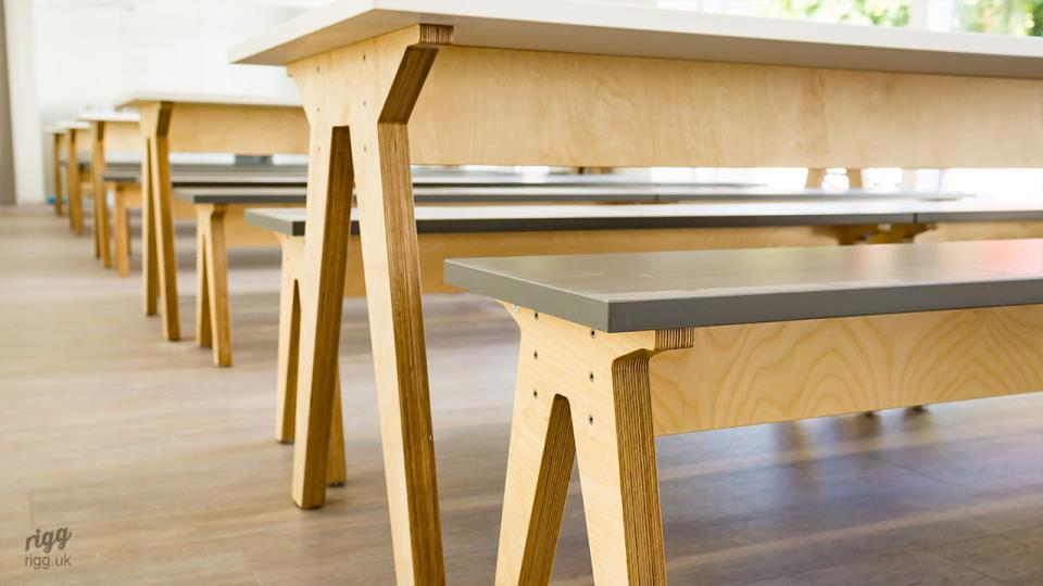 Synk Birch Plywood Dining Tables & Benches Legs