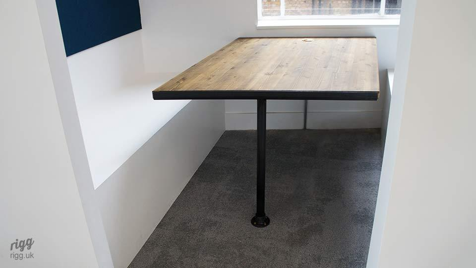 Industrial Booth Table