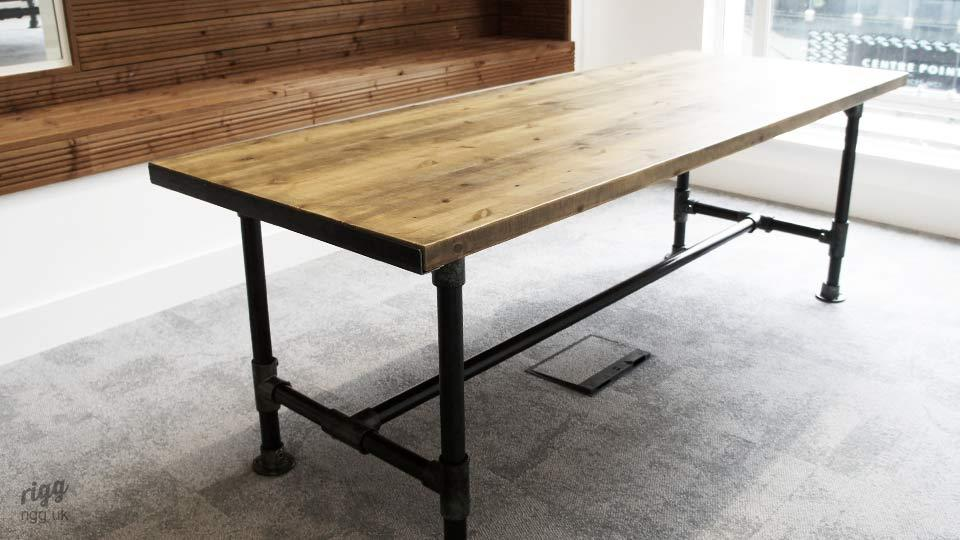 Industrial Scaffold Style Meeting Table