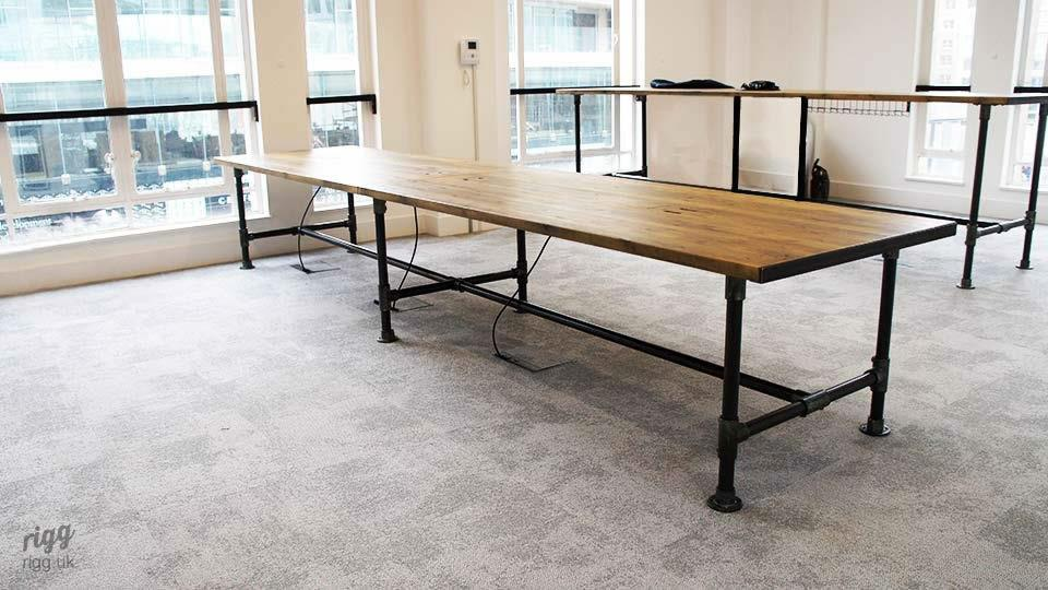 Large Industrial Pipe Breakout Table with Cable Management