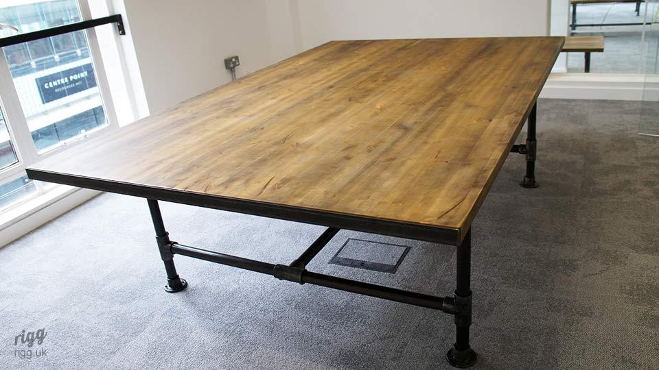 Large Industrial Pipe Office Table