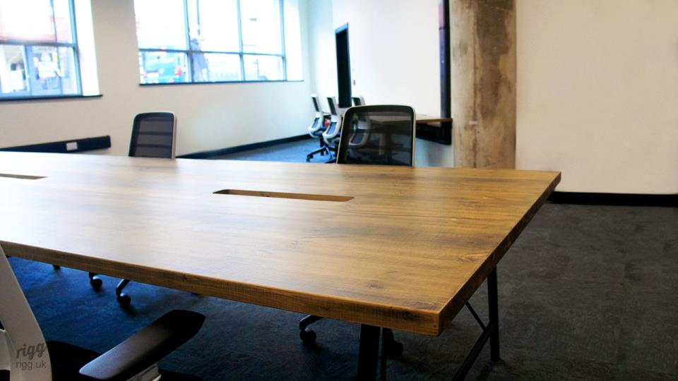 Large Workspace Tables with Wooden Top & Cable Management