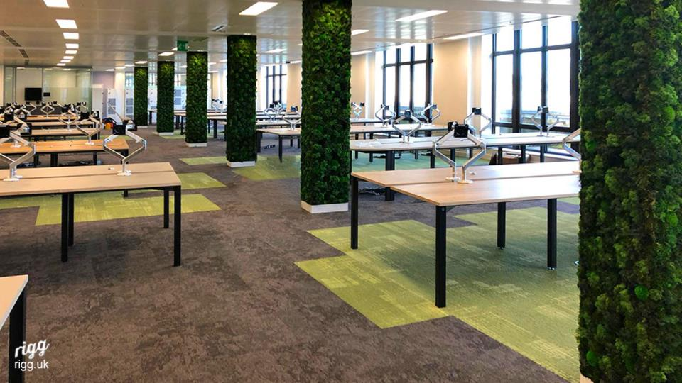Large Office Bench Desking Installation