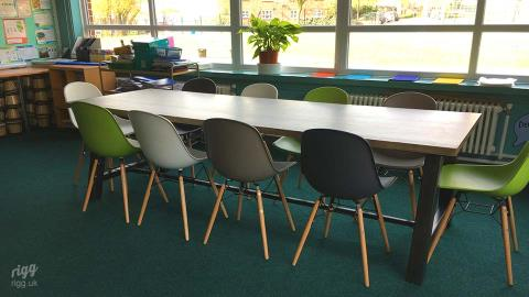 Large Wooden Primary School Tables, Birmingham