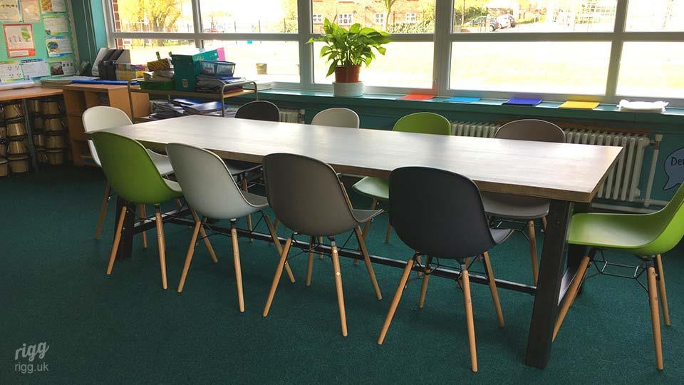 Large Wooden Primary School Tables Birmingham