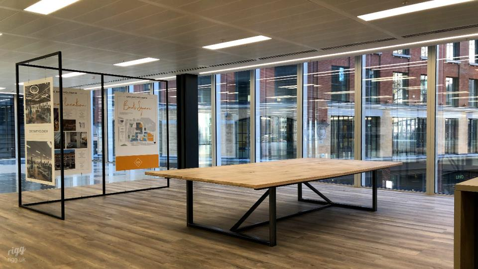 Bespoke Large Meeting Table at Helical Project, London - Architect: Sheppard Robson