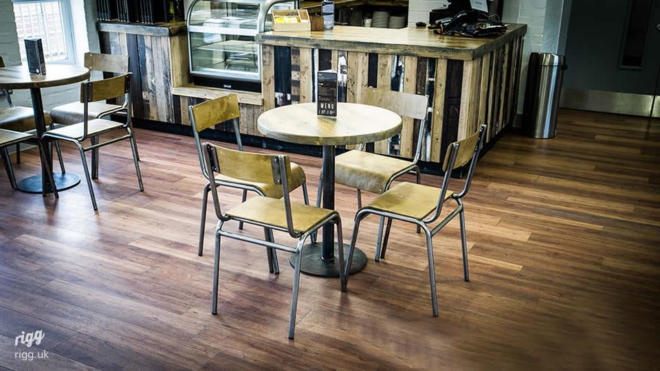 Industrial Round Cafe Table