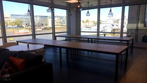 London Office Oak Tables Installation