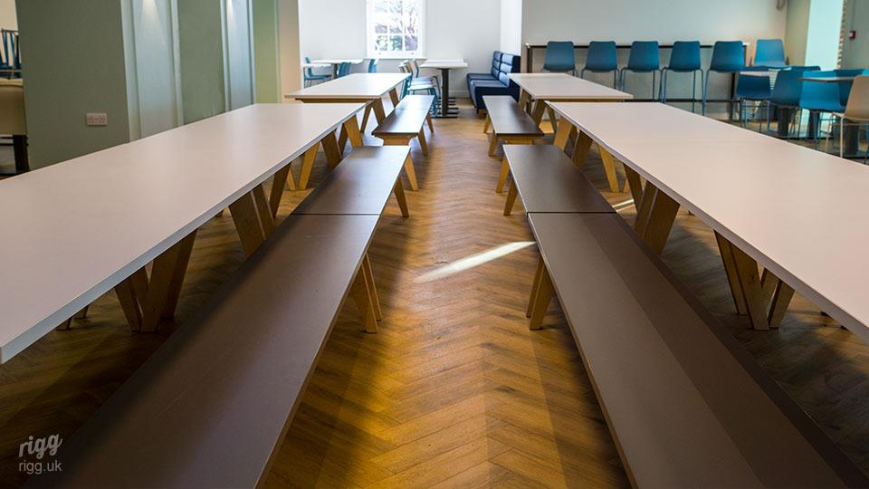 Birch Plywood & Formica Citadel Seating Benches