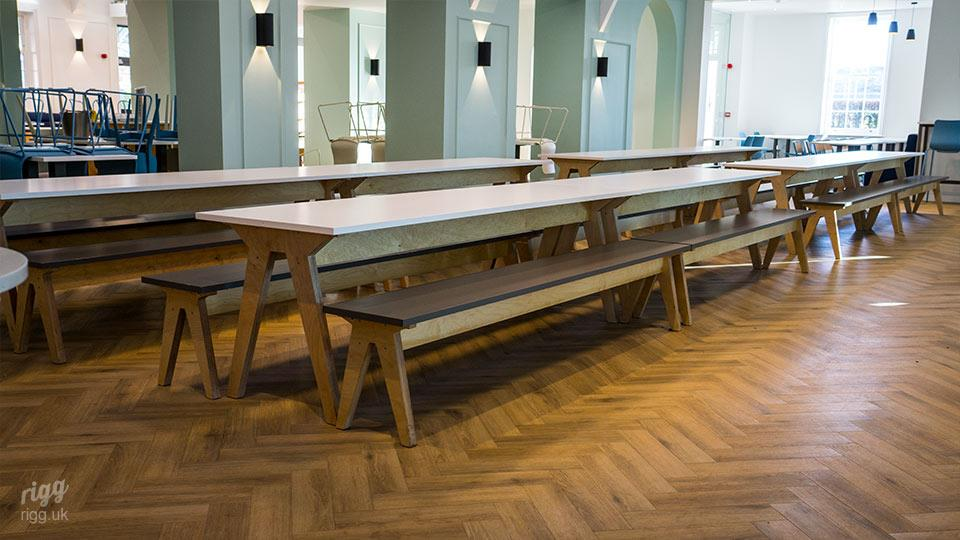 Birch Plywood & Laminate Table & Benches at Lord Wandsworth College