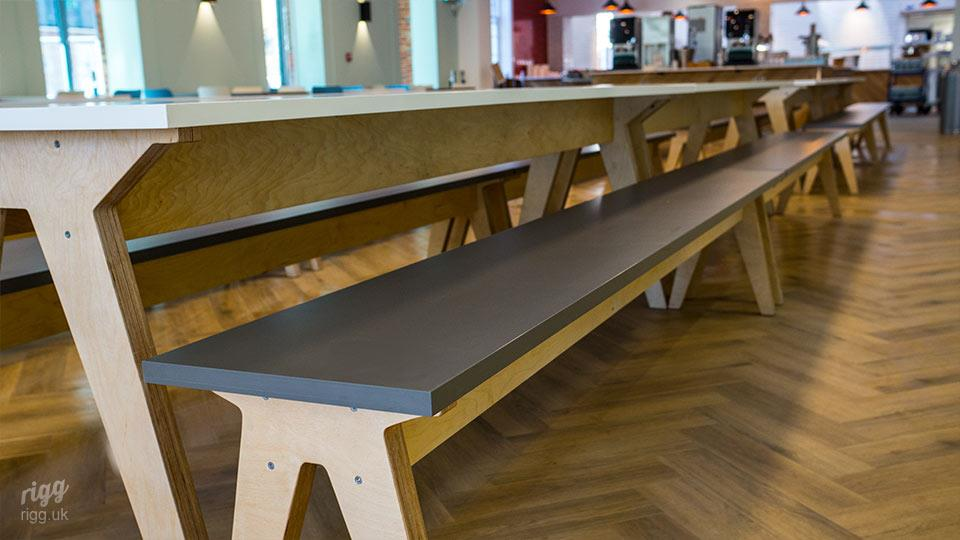College Birch Plywood Dining Hall Tables