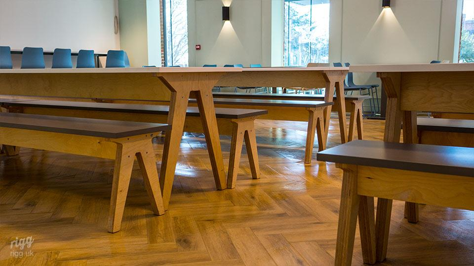 Educational Birch Plywood Dining Hall Furniture