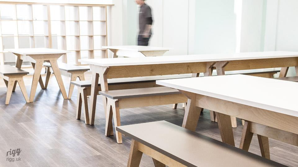 Synk - Modern Commercial & Educational Plywood Table & Benches