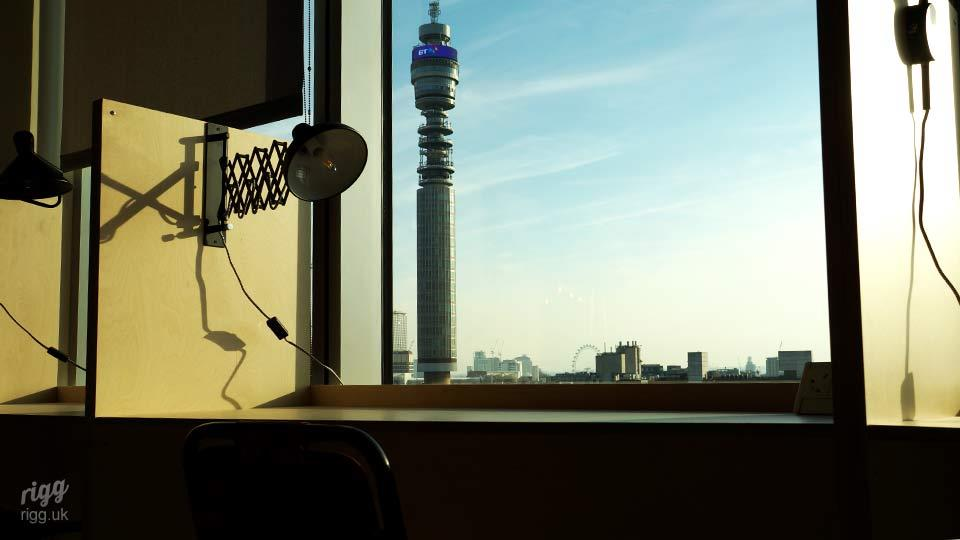 Communications Agency Furniture, Plywood Work Booths, London, BT Tower