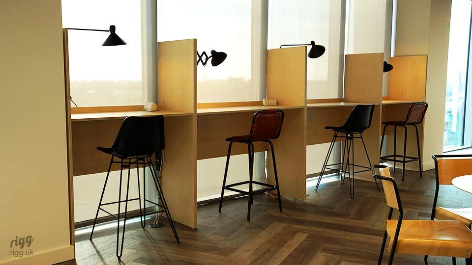 Plywood Office Booths