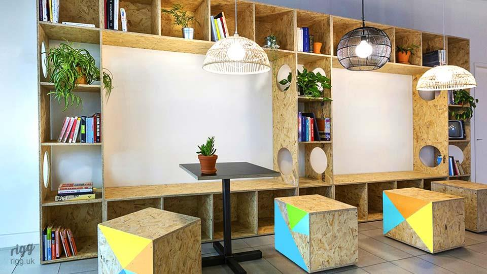 Contemporary Shelving Unit in Office Fit-out Project
