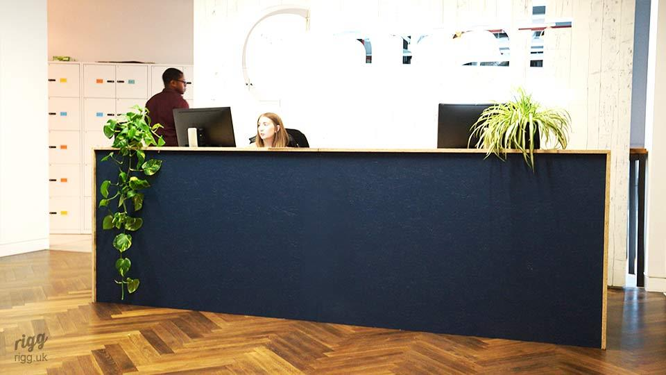 OSB Reception Desk in Office Fit-out