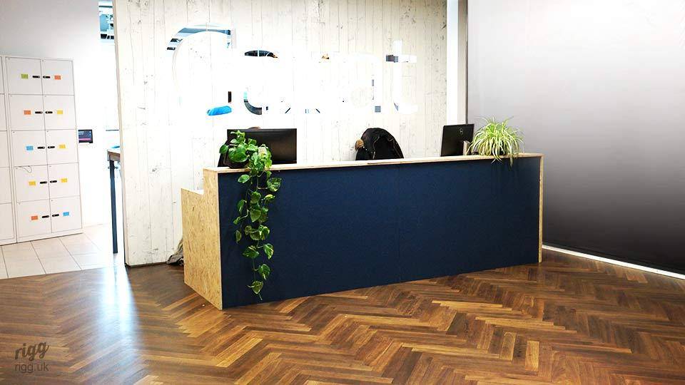 Visitor Desk, Painted & Lacquered OSB