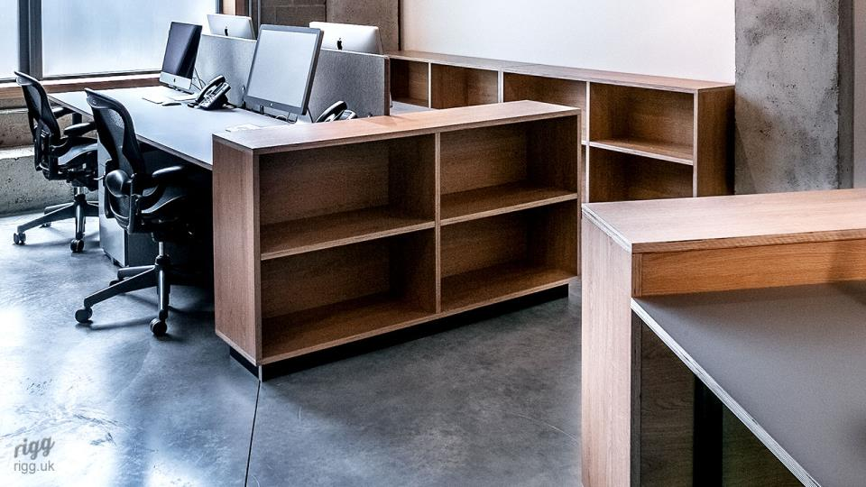 Small Bench Desking with Storage