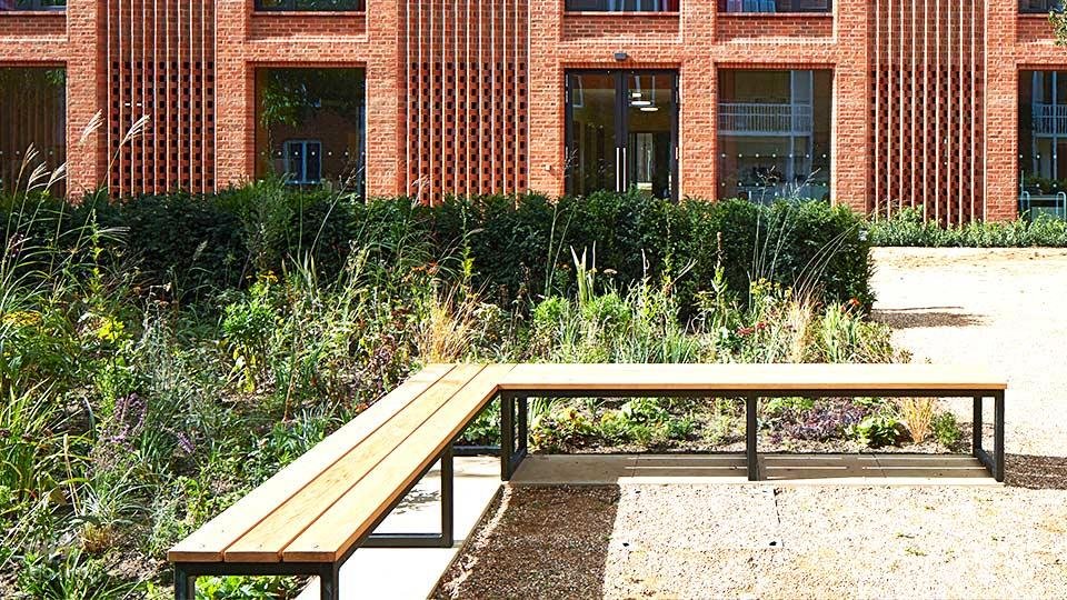 Modern Outdoor Seating Benches in Education