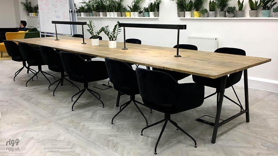 Large Office Table with Lamps