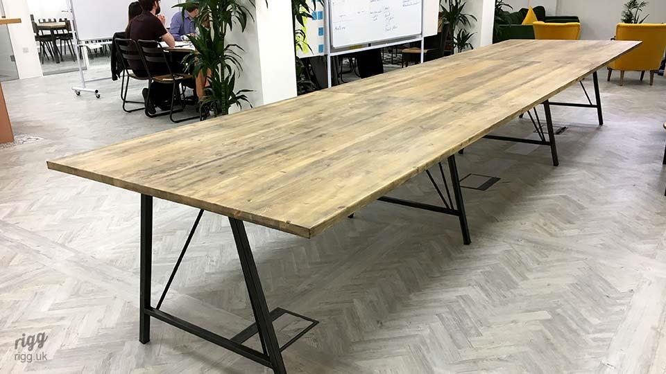 Long Office Table Breakout Table at Ovo Energy, London