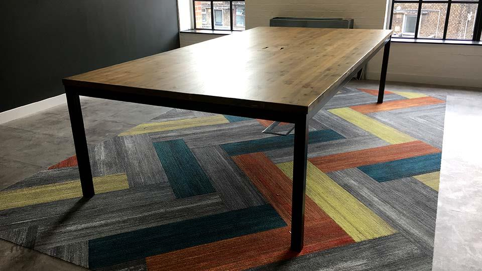 Rigg Quad Industrial Office Table Milliken Carpet