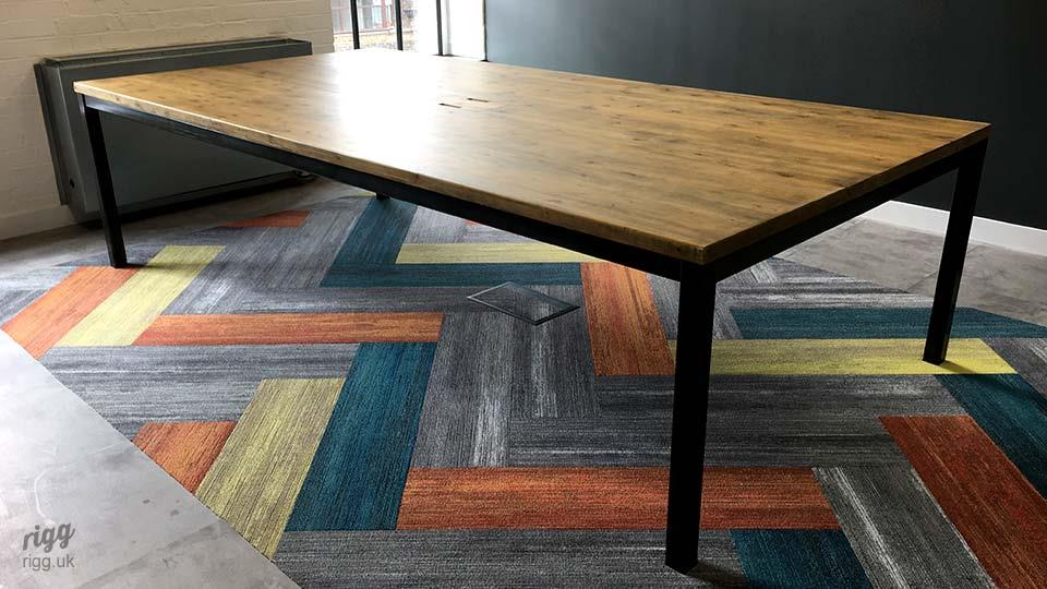 Rigg Quad Office Table Milliken Carpet