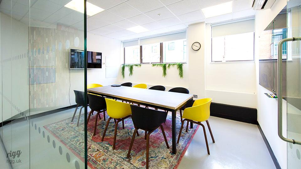 Office furniture rectangular table - London media company