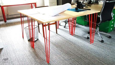 Plywood Tables for Architect Design Office