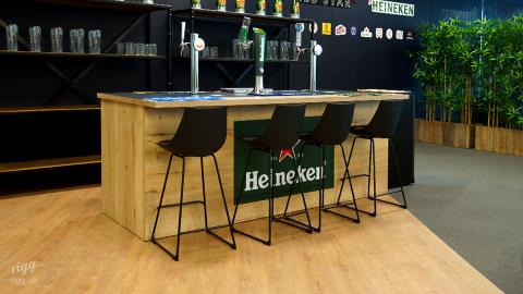 Pop-up Zinc & Wood Bar with Beer Taps - Brand Marketing Office, London