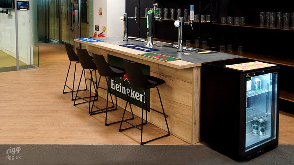 Office Installation of Drinks Bar for Branded Cafe & Canteen Area with Stools