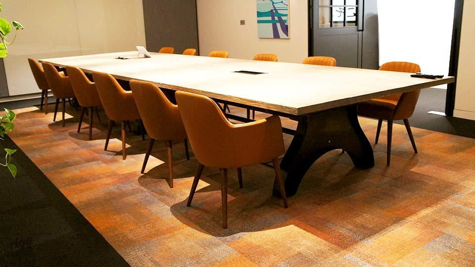 Very Large Industrial Conference Meeting Table with Cable Management