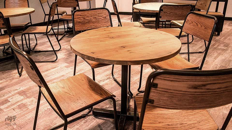Bistro Table and Chairs in School Canteen