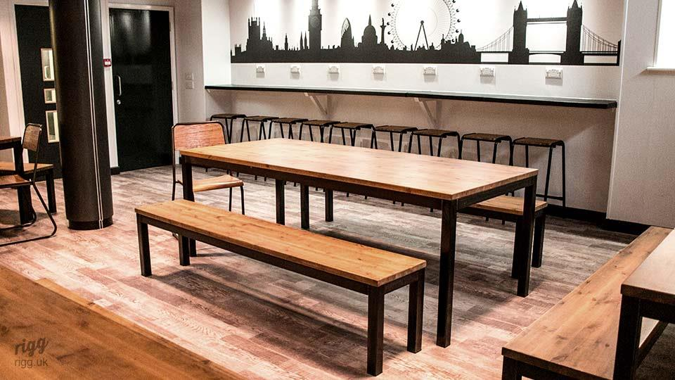 Industrial Table & Benches - School Canteen, St. Marks, Hounslow