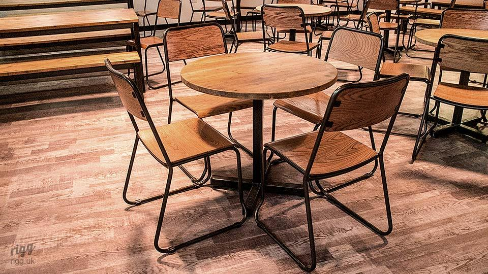 Wooden Top Round Bistro Tables