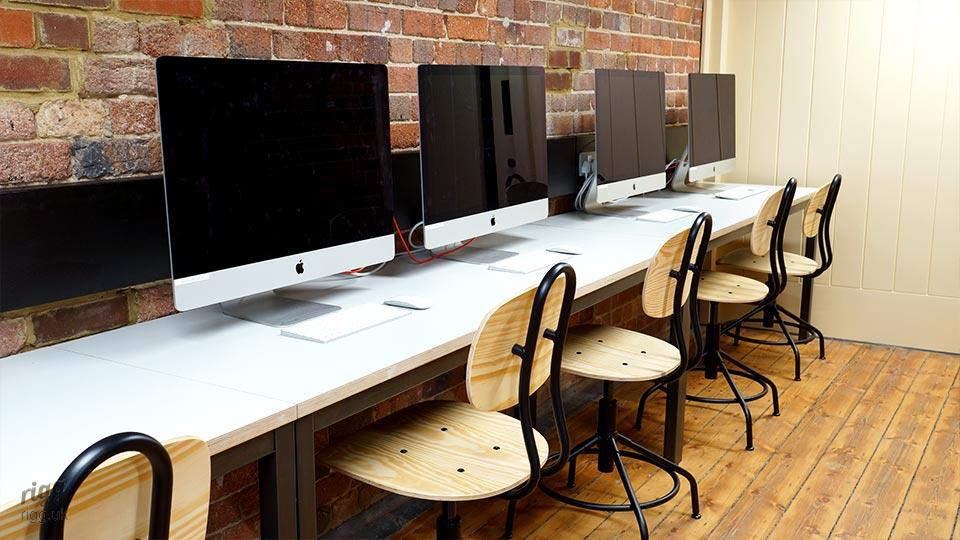 Computer Workbench Desk in College Classroom, Canterbury
