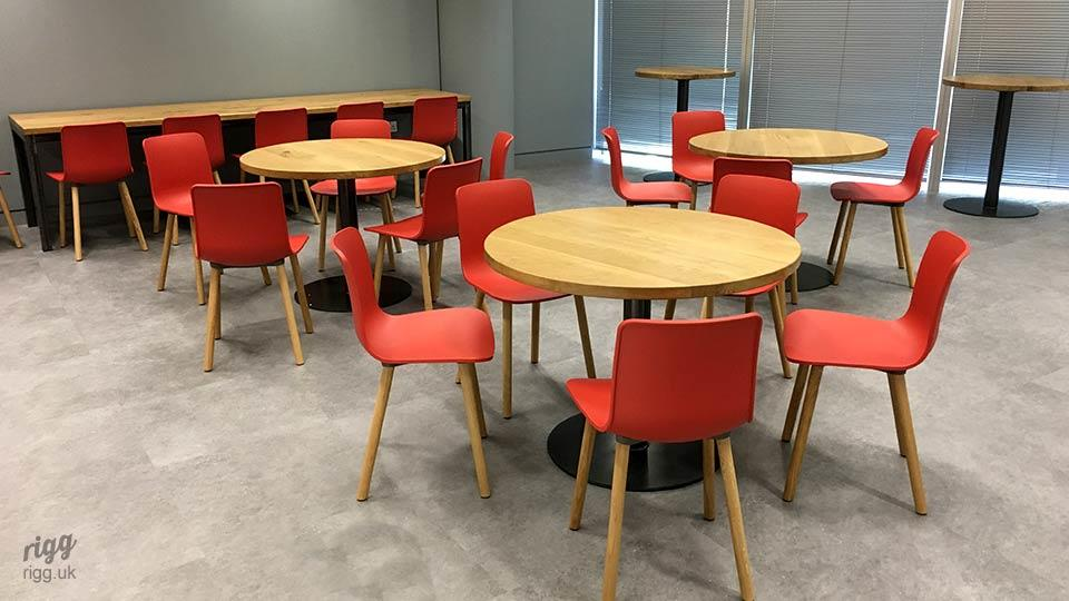 Oak Tables - London Office Furniture Installation