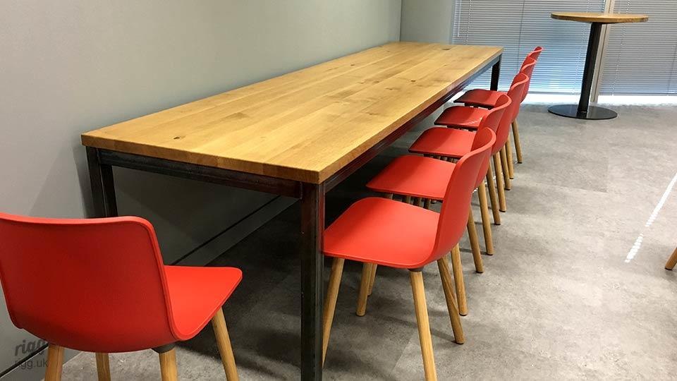 Rectangular Solid Oak Office Table