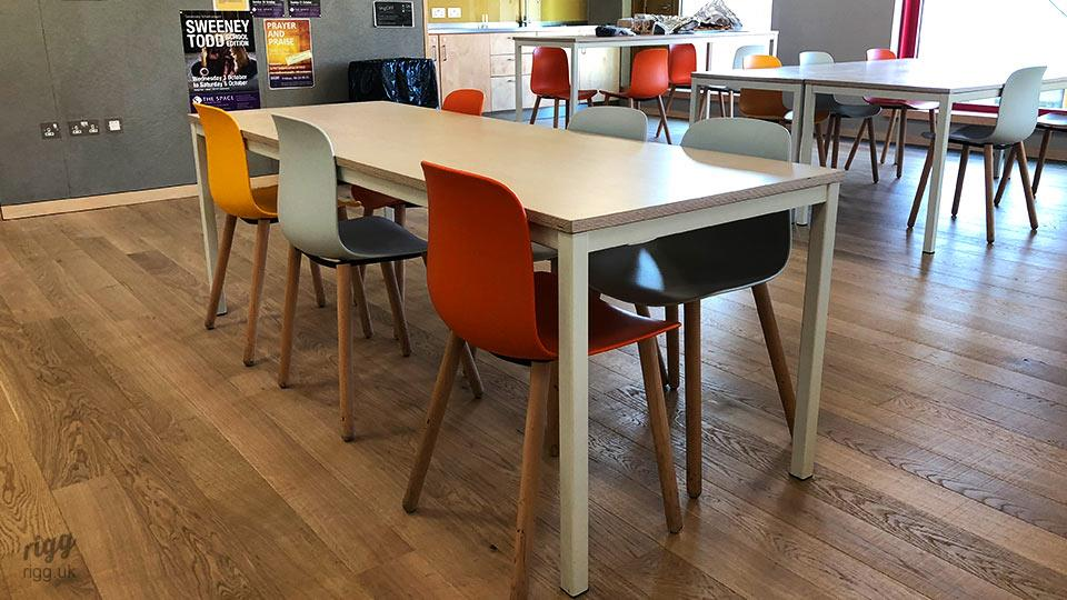 Educational Furniture - Rigg Quad Tables for Science Techology & 6th Form