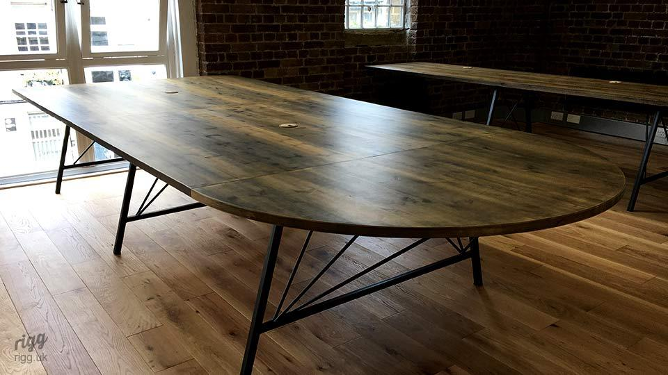 Meeting Table with Round Race Track Style End