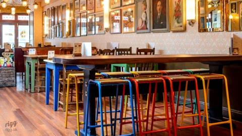 Tubular Bar Stools for Loungers Pubs