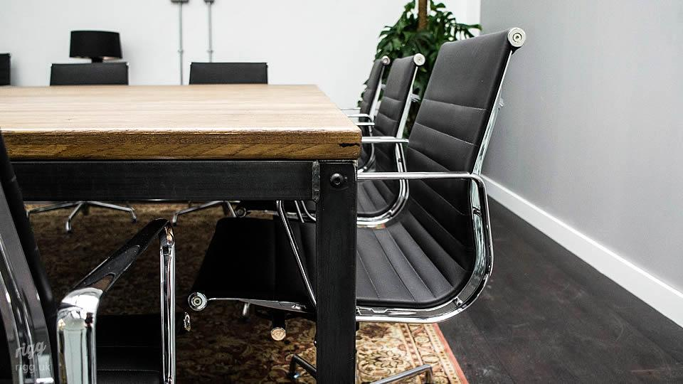 Wood and Steel Office Table